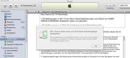 iTunes will nicht